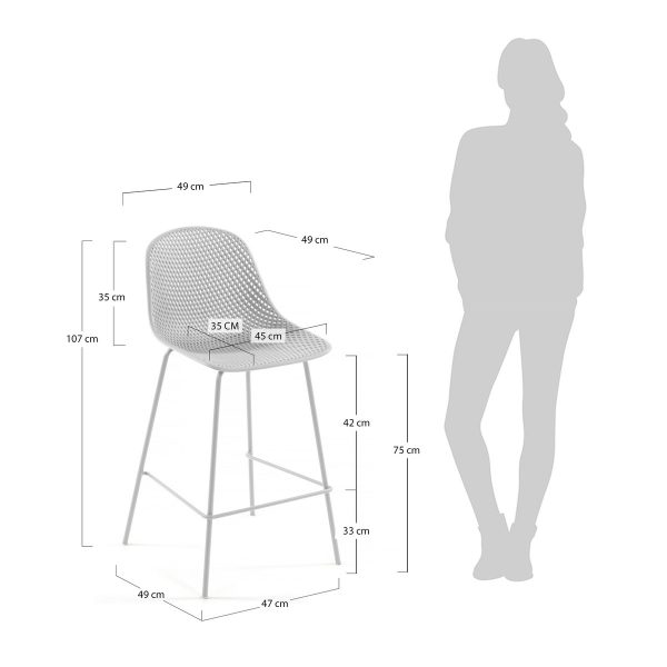 CC1990S05 4 600x600 - Quinby Barstool-White 75cms Seat