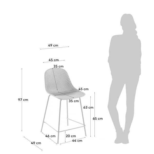 CC1990S05H 4 600x600 - Quinby Barstool-White 65cms Seat