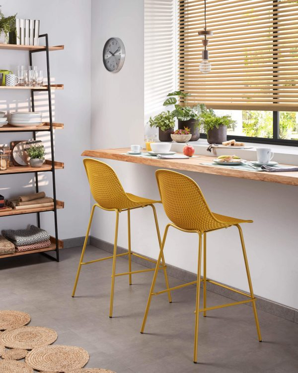 CC1990S31 10 600x750 - Quinby Barstool-Mustard 65cms Seat