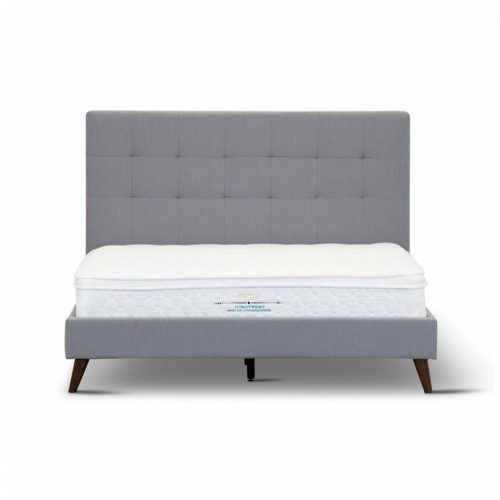 Yulara 3 500x500 - Yulara Fabric Upholstered Queen Bed - Grey