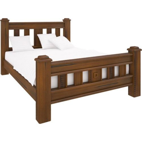 vjm 001 1 500x500 - Jamaica Timber Queen Size Bed - Rough Sawn