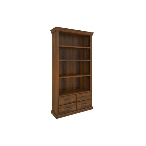 vjm 010 1 500x500 - Jamaica Timber Bookcase 4 Drawers  - Rough Sawn