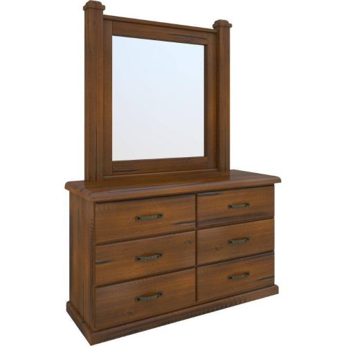 vjm 015 1 500x500 - Jamaica Timber Dresser With Mirror - Rough Sawn