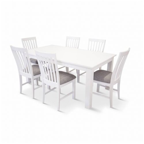 vo coas 7pc kit 3 500x500 - Coastal 7 Piece Dining Setting - Brushed White