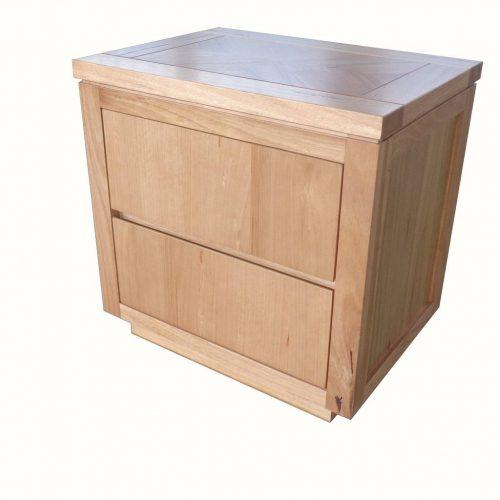 vo high 13 2 500x500 - Highland Messmate 2 Drawer Timber Bedside