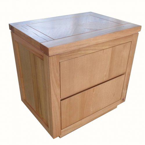 vo high 13 3 500x500 - Highland Messmate 2 Drawer Timber Bedside