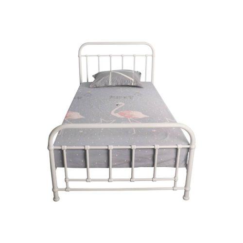 vob akir 06 1 500x500 - Akira King Single Metal Bed - White
