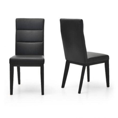 Ibiza Dining Chair Timber Frame Fully Upholstered Leather Look Modern High Back 1024x1024 b9980fef 8b1e 4e16 9a51 1094b69d29f5 1024x1024 500x500 - Ibiza Dining Chair Black Frame - Black PU