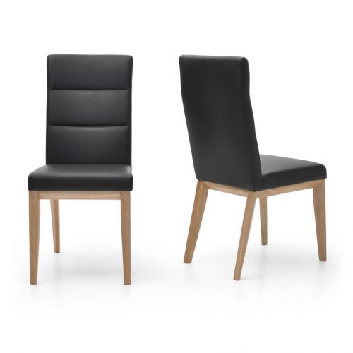 Ibiza Dining Chair Timber Frame Fully Upholstered Leather Look Modern High Back 5f30a1de cbc7 4e12 9c10 1771af8d73e3 1024x1024 500x500 - Ibiza Dining Chair Black Frame - Black PU