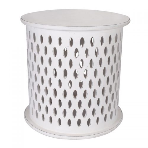 florian round side table white 3779152 00 500x500 - Mosaic Round Side Table-White