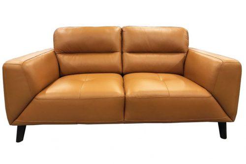 vo sono 02 1 500x333 - Sonama 2 Seater Leather Sofa - Tangerine