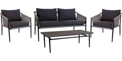 vout salc 01 1 500x250 - Salcombe 4Pce Outdoor Sofa Set - Grey