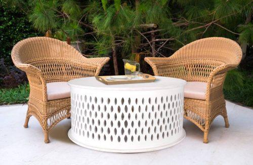 wova 13 wht 1 500x327 - Mosaic Round Coffee Table-White