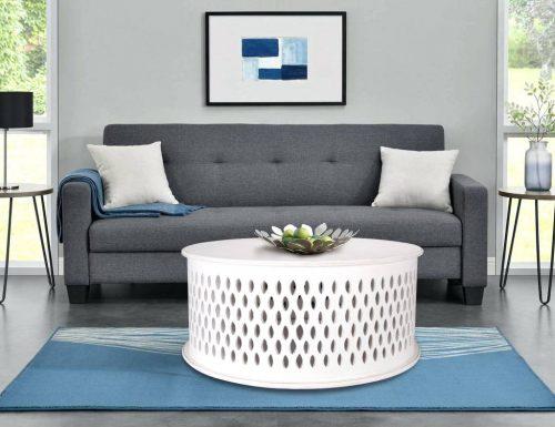 wova 13 wht 2 500x385 - Mosaic Round Coffee Table-White