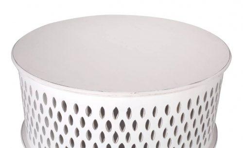 wova 13 wht 5 500x305 - Mosaic Round Coffee Table-White