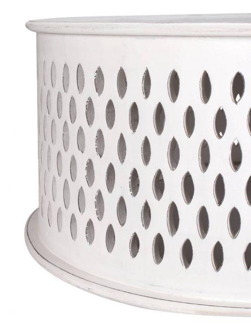 wova 13 wht 6 500x664 - Mosaic Round Coffee Table-White