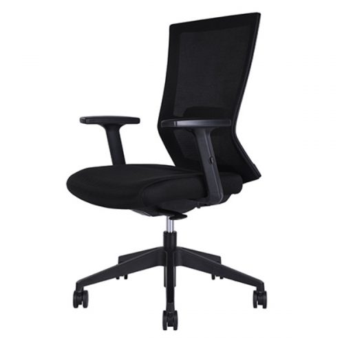 Portland 500x500 - Portland Mid Back Office Chair - Black