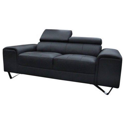 v 2126 2s b 500x500 - Bellagio 2 Seater Leather Sofa - Black