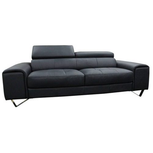 v 2126 3s b 500x500 - Bellagio 3 Seater Leather Sofa - Black