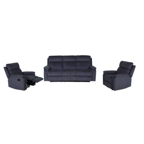 vol asco 01 1 500x500 - Ascot 3 Piece Recliner Suite - Grey Fabric