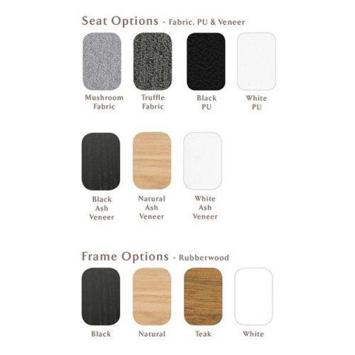 Gangnam Stool Sample Swatch grande 500x500 - Gangnam Barstool - Oak Frame & Black PU Seat