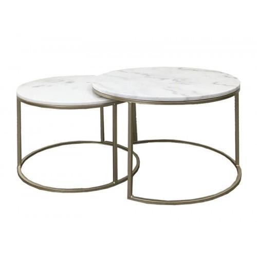 Miles - Mila Marble Coffee Table Set