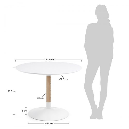 CC0092L05 8 500x500 - Tic 1100 Round Dining Table - White
