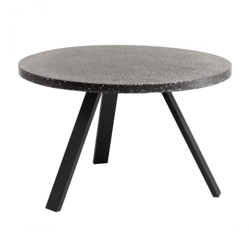 CC1220PR01 0 500x500 - Shanelle 1200 Round Dining Table - Black Terrazzo/Steel