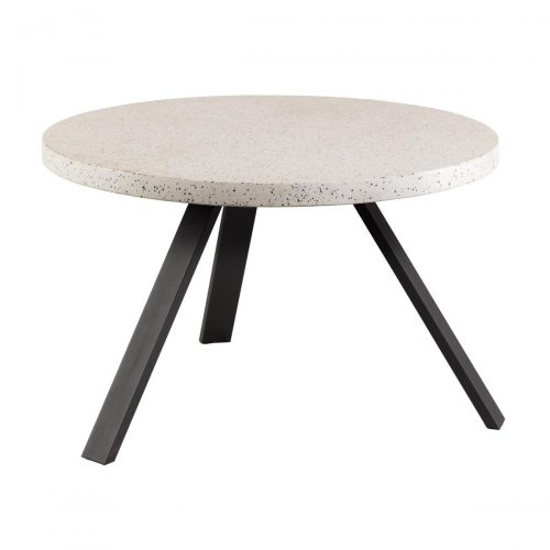 CC1220PR05 0 500x500 - Shanelle 1200 Round Dining Table - White Terrazzo/Steel
