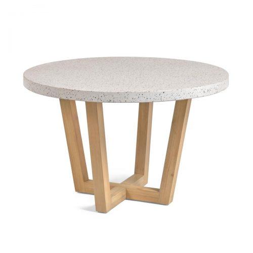 CC2258PR05 0 500x500 - Shanelle 1200 Round Dining Table - White Terrazzo/Acacia