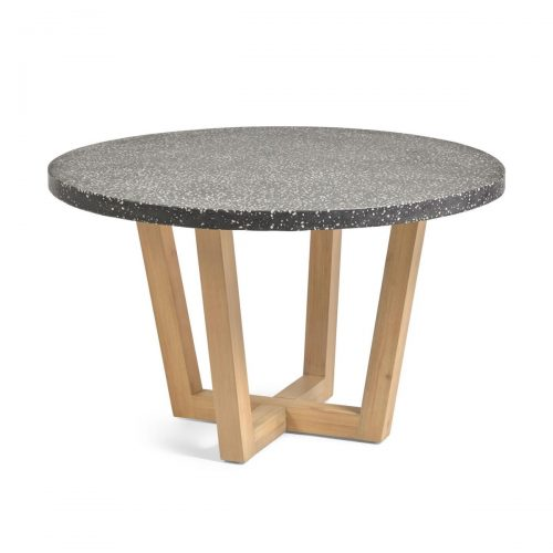 CC2259PR01 0 500x500 - Shanelle 1200 Round Dining Table - Black Terrazzo/Acacia