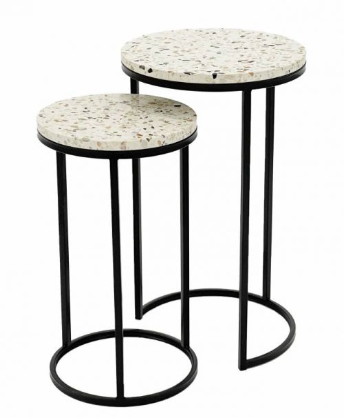 E144692 1 500x606 - Ayla Terrazzo Side Tables