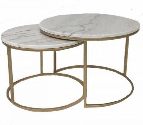 Warran 500x438 - Warran Marble Coffee Table Set
