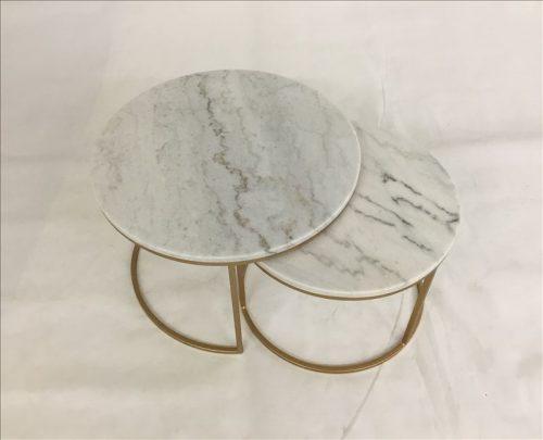 Warran1 500x405 - Warran Marble Coffee Table Set