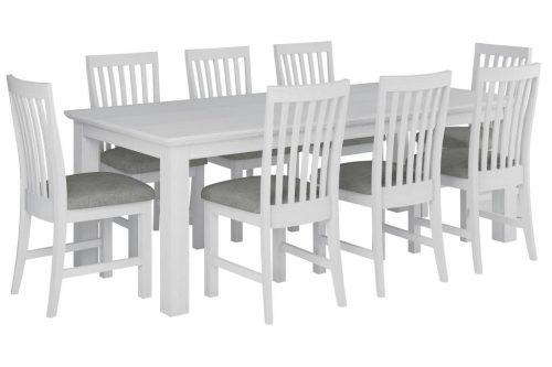 vo coas 9pc kit 1 500x333 - Coastal 9 Piece Dining Setting - Brushed White