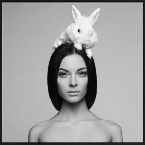 Bunny 500x500 - Lady With Bunny Print